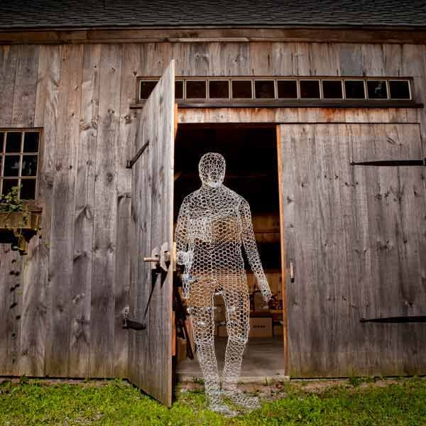 Barely-there chicken wire gives just the right ethereal look to a ghostly apparition. via @thisoldhouse