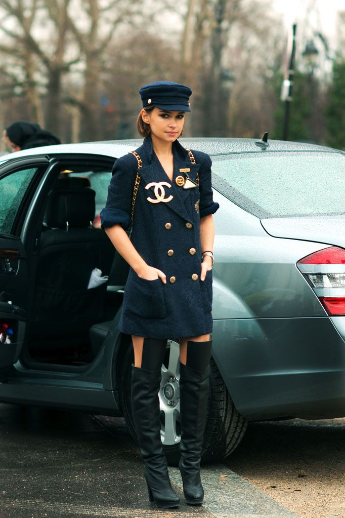 Miroslava Duma_2012_0135 // nautical / military / soldier trend trickling up.