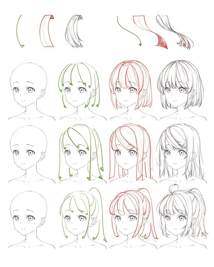Flowing Anime Hair Reference – #anime #Flowing #Ha…