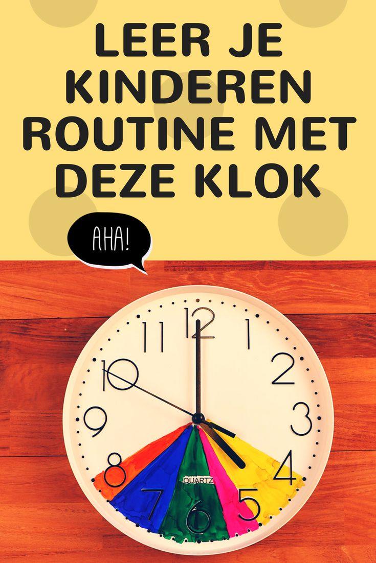 Leer je kind routine met deze leuke klok!
