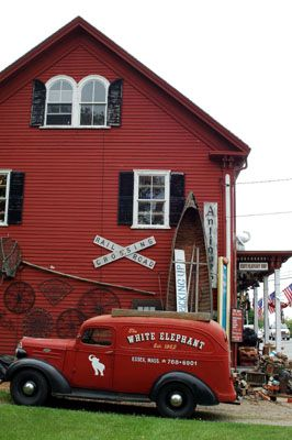 The White Elephant Shop, one of more than 30 antique stores in Essex, Massachusetts, is filled with eclectic finds.