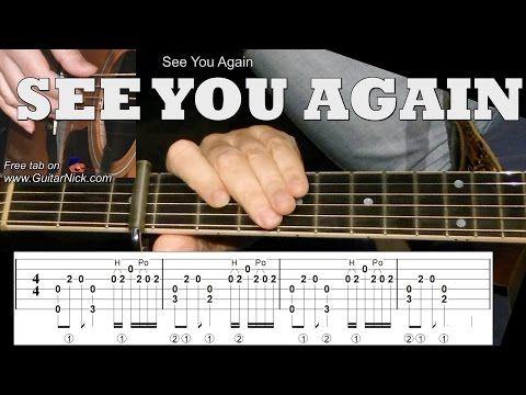 SEE YOU AGAIN Fingerstyle Guitar Tab: GuitarNick.com