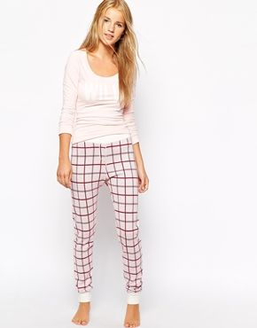 Jack Wills Jersey Leggings With Vintage White Check