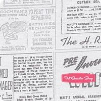 Modern Background Ink Zen Grey Newsprint Yardage <br/>SKU