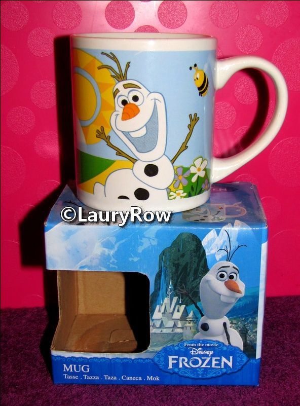 TASSE OLAF de la reine des neiges verso 1/ ♥ eu par maman le 16/01/16.♥.