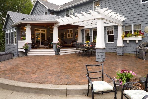 Covered deck, pergola, & patio via Southview Design