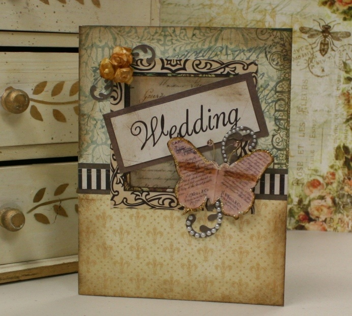 Vintage Handmade Wedding Invitations: Vintage Wedding Card