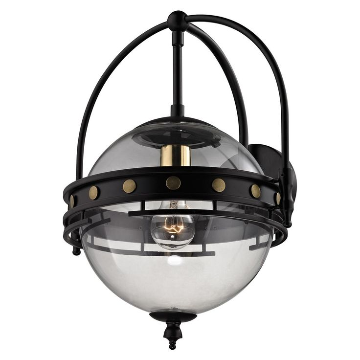 Mixed Metal Classic Globe Wall Sconce