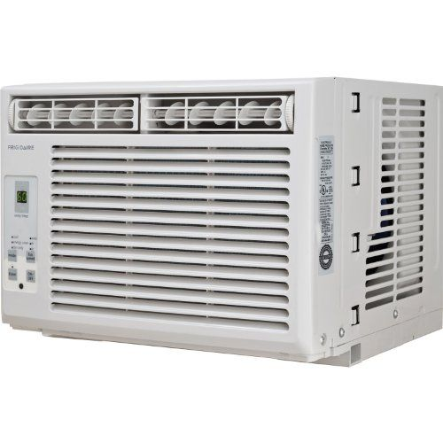 Frigidaire FRA054XT7 5,000 BTU Window-Mounted Mini Room Air Conditioner  Frigidaire FRA054XT7 5,000 BTU Window-Mounted Mini Room Air Conditioner Frigidaire's FRA054XT7 5,000 BTU Window-Mounted Mini Room Air Conditioner is perfect for small size rooms up to 165 square feet. This unit features rotary controls and top full-width air discharge. The antimicrobial filter reduces bacteria, room odors, and other airborne particles for a comfortable environment.  And the included pleated quic..