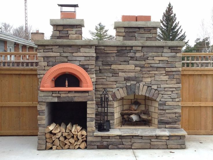 25 best ideas about pizza oven fireplace on pinterest for Wood burning fireplace construction