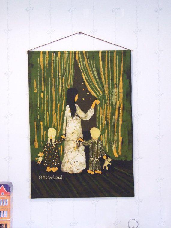Textil para colgar años 70 AB Ekeblad// por tiendanordica en Etsy