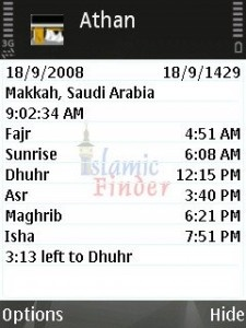Athen Or Azan Time v2.06 Signed For Nokia Symbian^3, S60_5th, S60_3rd Edition's
