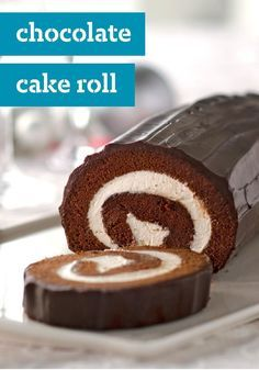 Chocolate Cake Roll — We're running out of stars to describe how creamy and delicious this dessert is. Jelly roll's chocolate cousin, this cake will remind you of your favorite treat growing up.: