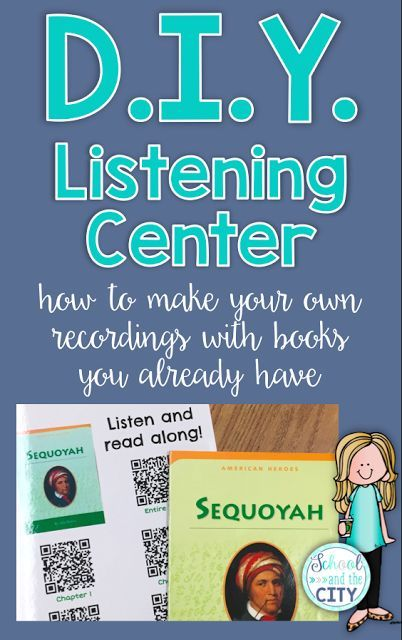 """DIY Listening Center: How to make your own recordings using free apps and books you already have! Step by step instructions and ideas for implementation. Great for a listening station for """"Listen to Reading"""" during daily 5 - an easy way to integrate science and social studies into your literacy block! [School and the City blog]"""