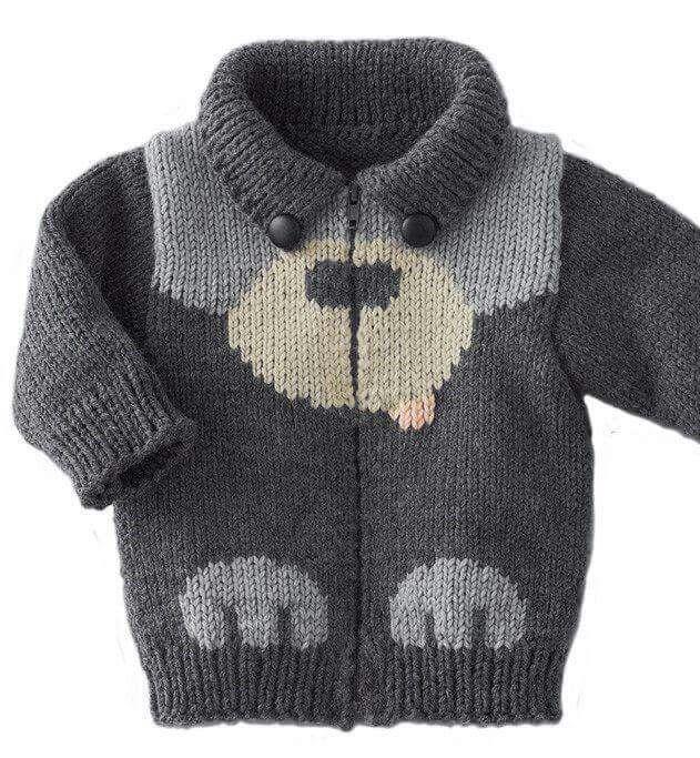 Adorable Bear Crochet Sweater
