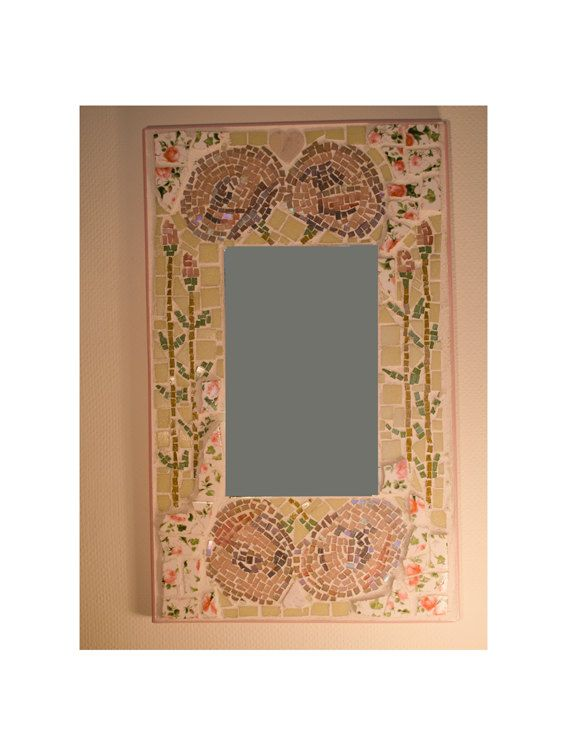 Rose Mosaic Mirror by ButterflyMosaicsUK on Etsy