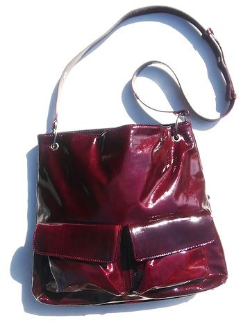 Gapock X Crossbody Travel Bag Patent Leather from IMPERIO jp