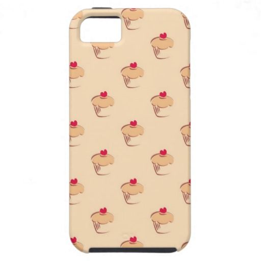 Sweet retro cupcakes muffins with heart iPhone 5 cover