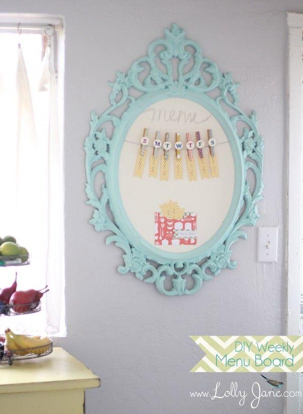 DIY Weekly Menu Board by LollyJane
