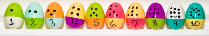 Counting Easter Eggs Pre-K Math Activities! Great way to reuse eggs for math!