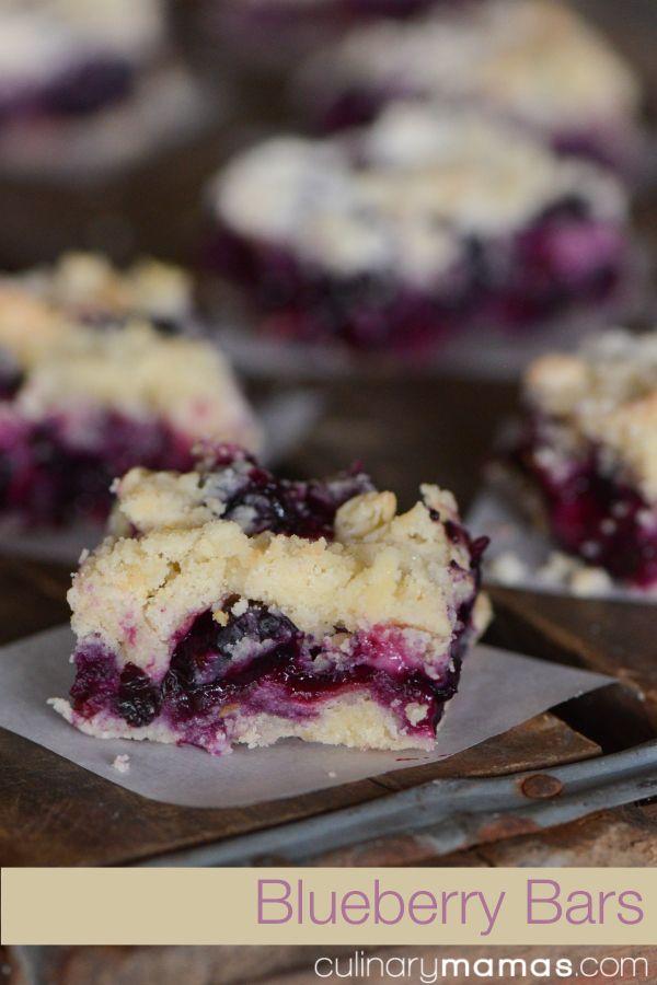 Blueberry Bars | culinarymamas.com