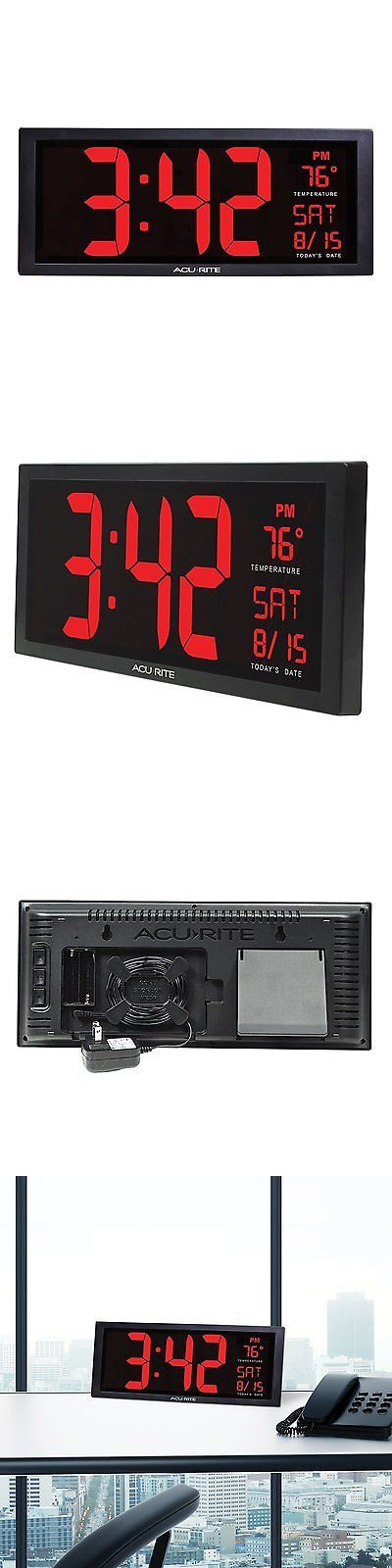 Alarm Clocks 79643: Large Digital Led Wall Clock Temperature Table Memory Big Extra Oversize Date -> BUY IT NOW ONLY: $48.78 on eBay!