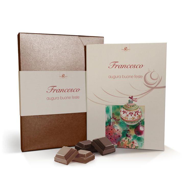 Bombolibro a tema Natale con cofanetto e cioccolato