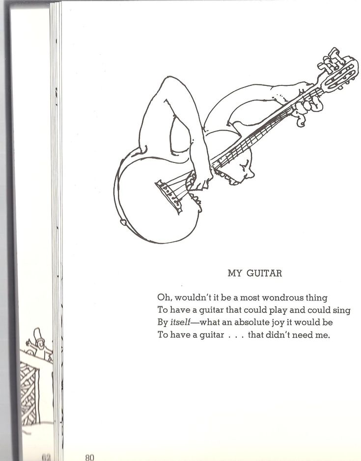 Poetry Book Cover Guitar ~ Shel silverstein my guitar silver