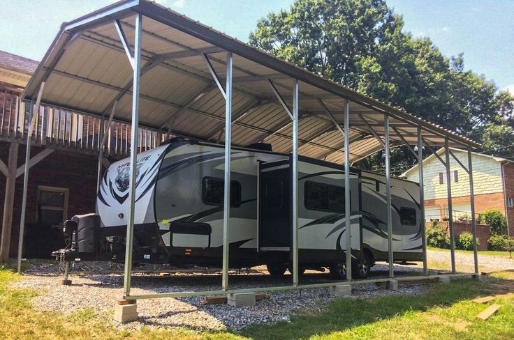 RV Carport- Installed 12 x 36 x 12 with our strongest vertical snow roof, 12g frame and a 20 year warranty. – Store – Ideal Steel Carports