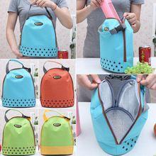 Hot New duplas Tote almoço piquenique saco de alimentos bebidas Cooler térmica impermeável saco lancheira para crianças Z1(China (Mainland))