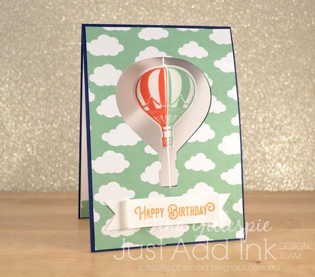 Scissors Paper Card: JAI #343: Just Add A Blog Hop