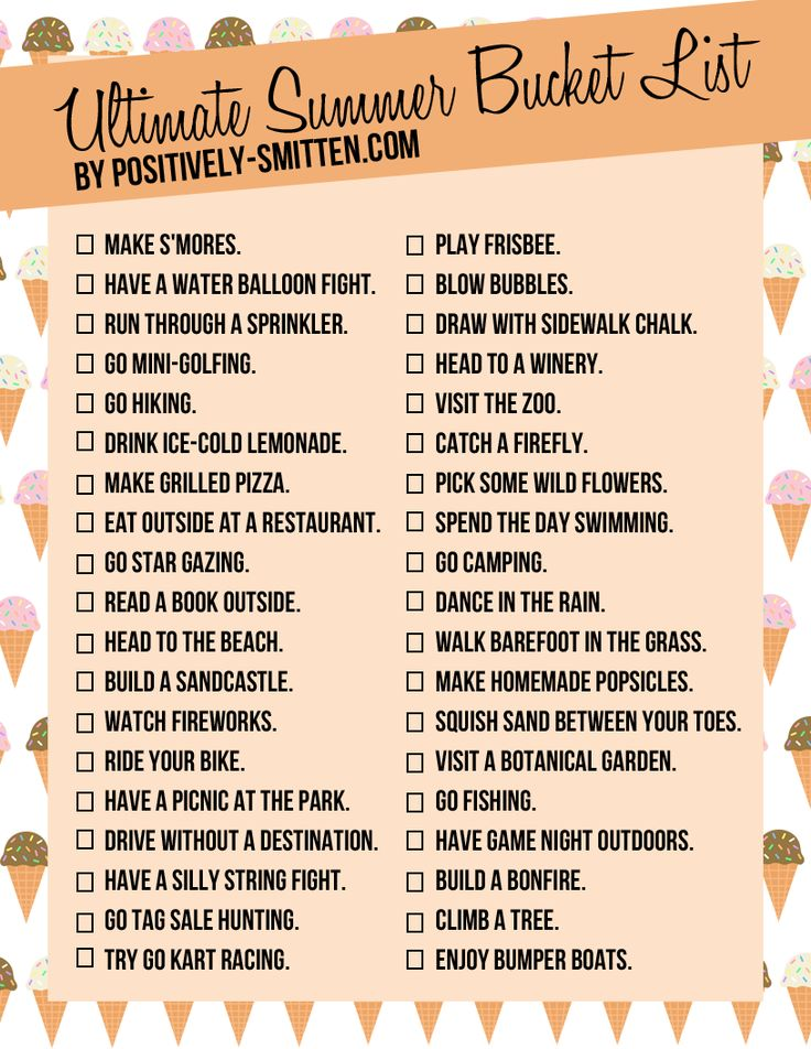 38 Ideas for the Ultimate Summer Bucket List | Positively Smitten ...