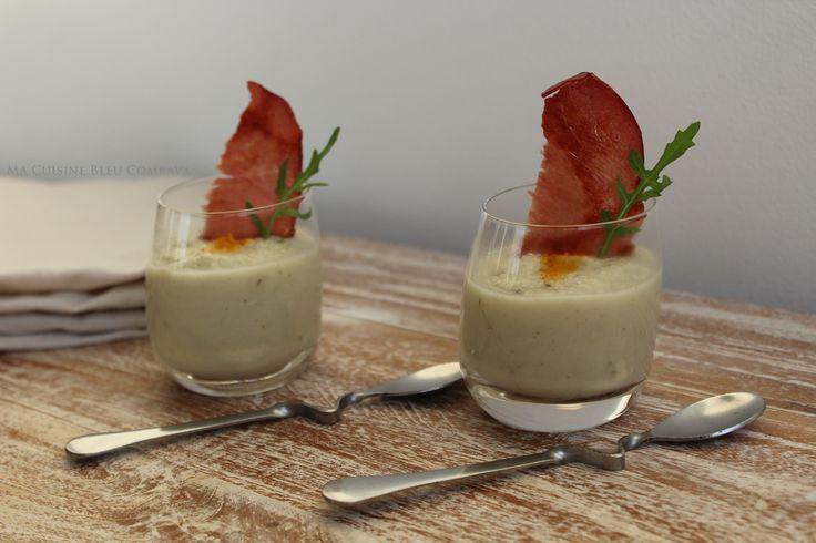 Verrines de Crème de Chou-Fleur, Coco Curry