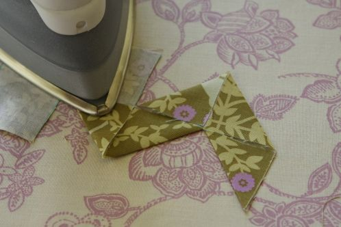 if you have the tools, this is a super-fast way to make large rick-rack-style embellishment from any fabric you like