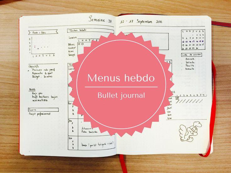 Planifiez sereinement vos menus pour la semaine avec cette idée bullet journal simple à réaliser. Le planner de menus hebdo vous simplifiera la vie!