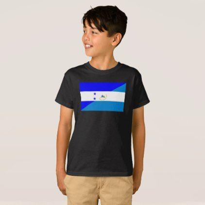 #country - #honduras nicaragua half flag country symbol T-Shirt