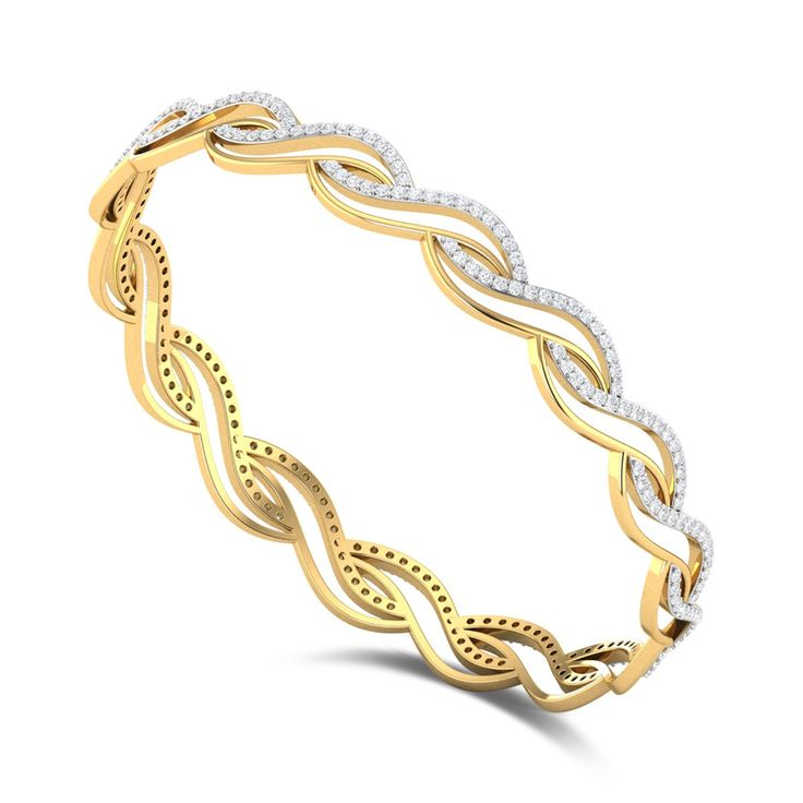 Wavy Spring Diamond Bangle DJBB5090