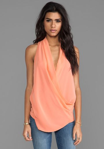 MM COUTURE BY MISS ME Drape Front Tank in Coral - MM Couture by Miss Me