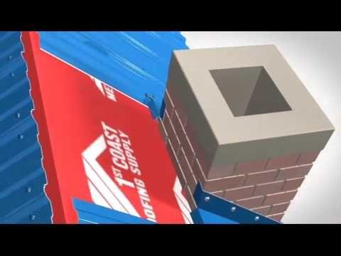 Chimney Flashing Installation - 1st Coast Metal Roofing Supply - YouTube