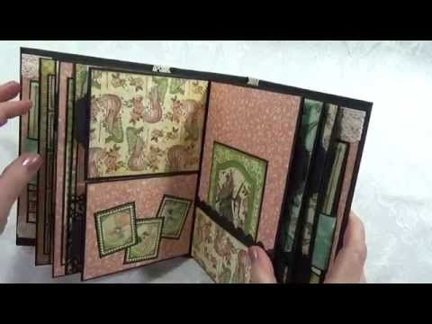 "Graphic 45 ""Once Upon A Springtime"" Scrapbook Photo Album - YouTube"