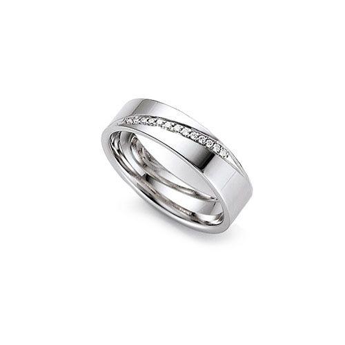 dramatic 6mm flat engagement ring with 13 diamonds httpwwwwooltonandhewitt - Flat Wedding Rings