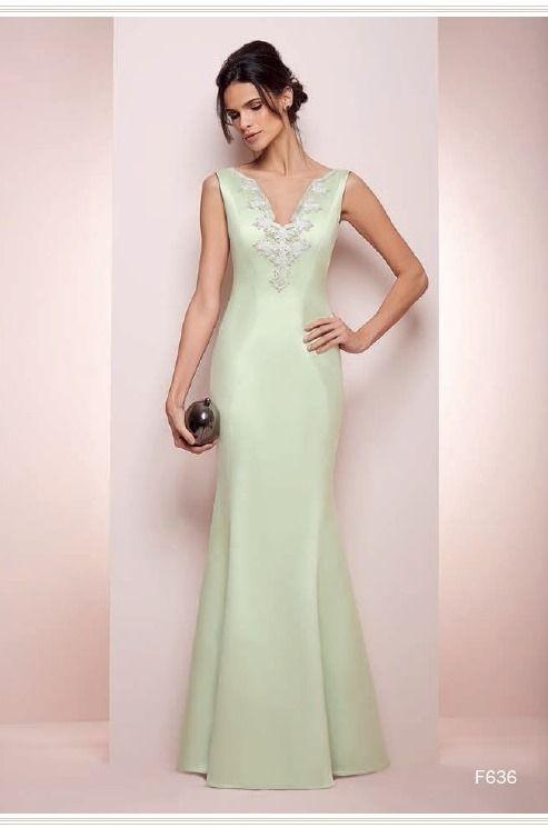 Vestido de festa verde  para madrinha de casamento e formanda