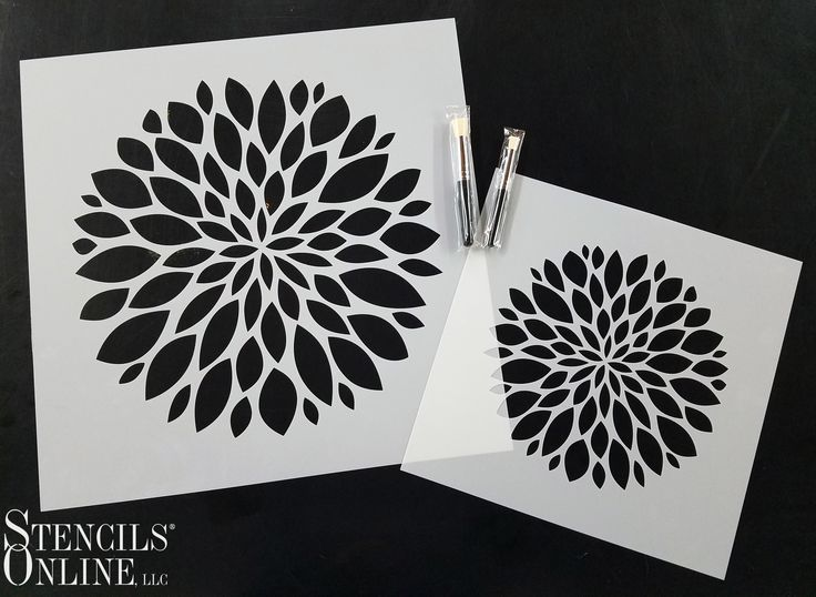 Try decorating a girl's nursery with some adorable flower stencils! Amy sent us in this dahlia design and it is beautiful! Thanks Amy! The design is the same, the size of the stencil is the only difference! :)