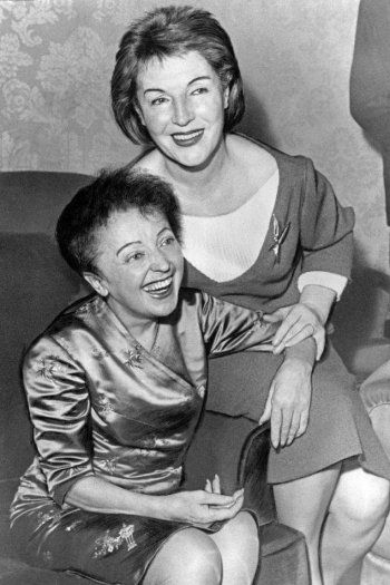 Edith Piaf and Marguerite Monod by Hugues Vassal, 1960s