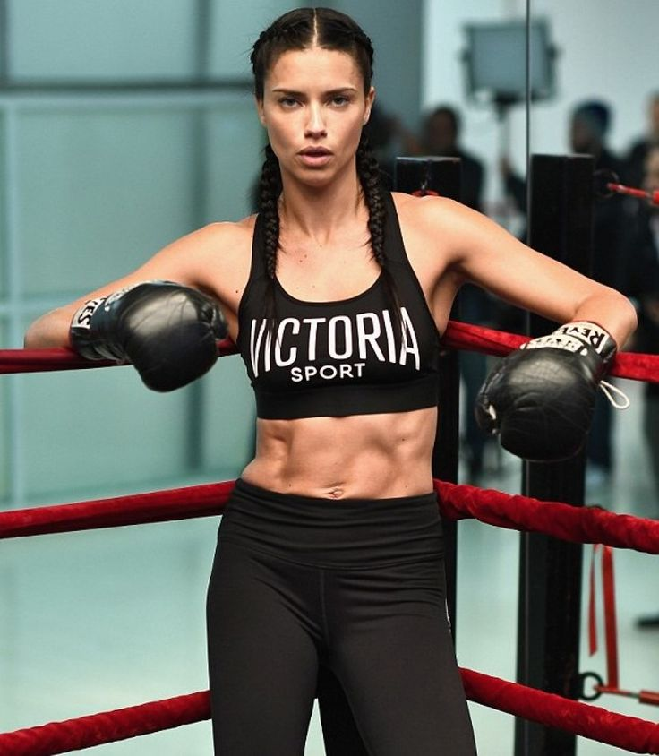 Workout time in Victoria Secret activewear.