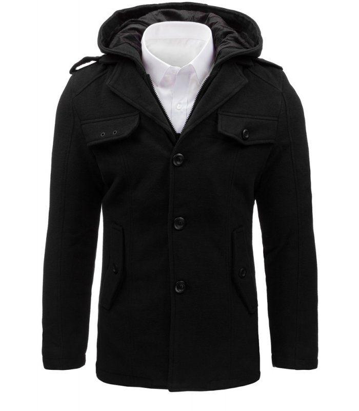 Pánsky čierny plášť