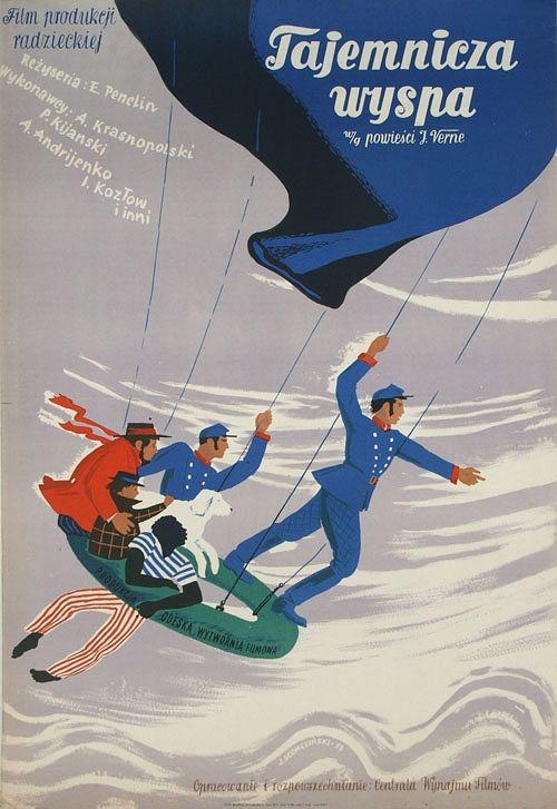 The Mysterious Island, Polish Movie Poster 4868 Designer: Jan Slomczynski