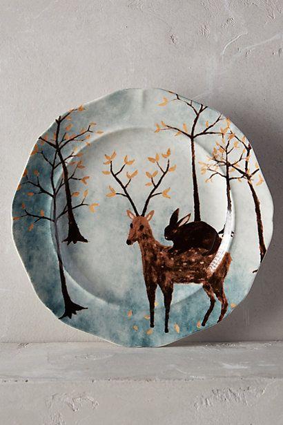 Echo Treks Dessert Plate - anthropologie.com.  Reminds me of Christmas!
