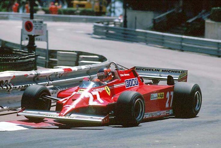 Gilles Villeneuve,ganador del Gran Premio de Mónaco con el Ferrari 126CK