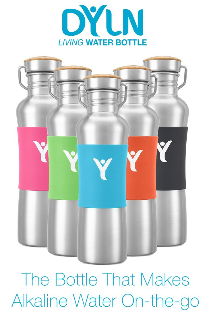 Choose your sleeve color for the DYLN Living Alkaline Water Bottle. Create alkaline water on-the-go...